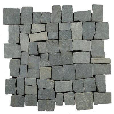 "Blocks 11.75"" x 11.75"" Marble Mosaic Tile Pebble Tile"