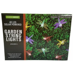 Penn Distributing Solar Powered Dragonfly 40 Light Novelty String Lights