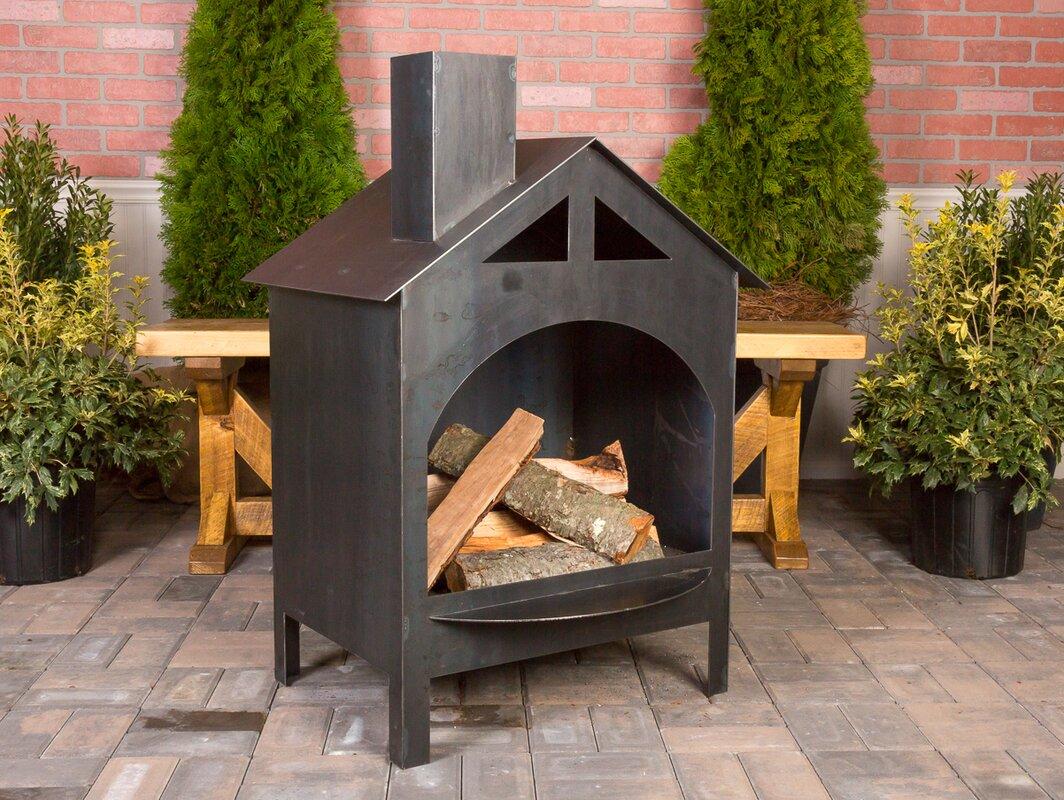 Ember Haus Steel Wood Burning Outdoor Fireplace