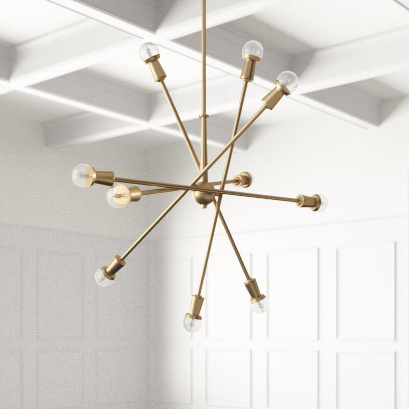 Joss Main Salguero 10 Light Sputnik Modern Linear Chandelier Reviews Wayfair