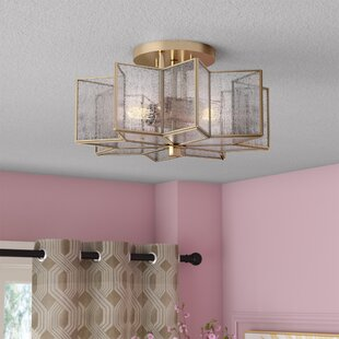 Conley 2-Light Flush Mount by Willa Arlo Interiors