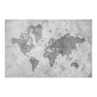 World map wallpaper kids wayfair vintage world map ii 225m x 336cm wallpaper roll gumiabroncs Image collections