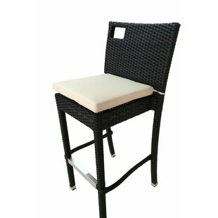 Debose 30 Patio Bar Stool With Cushion (Set of 2) by Wrought Studio