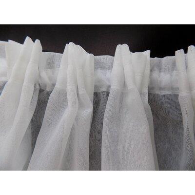 Gardine Shatley mit Kräuselband (1 Stück)  halbtransparent | Heimtextilien > Gardinen und Vorhänge | Weiß | Polyester | Brayden Studio