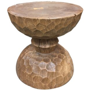 Colinton Chiseled Hour Glass End Table by Loon Peak