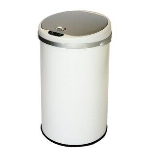 Rebrilliant Motion Sensor Metal 13 Gallon Trash Can