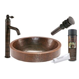 Compare prices Skirted Metal Oval Vessel Bathroom Sink with Faucet By Premier Copper Products