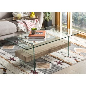 Christen Modern Glass Coffee Table by Ivy Bronx