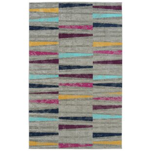 Sequoia Gray/Navy/Pink Indoor/Outdoor Area Rug