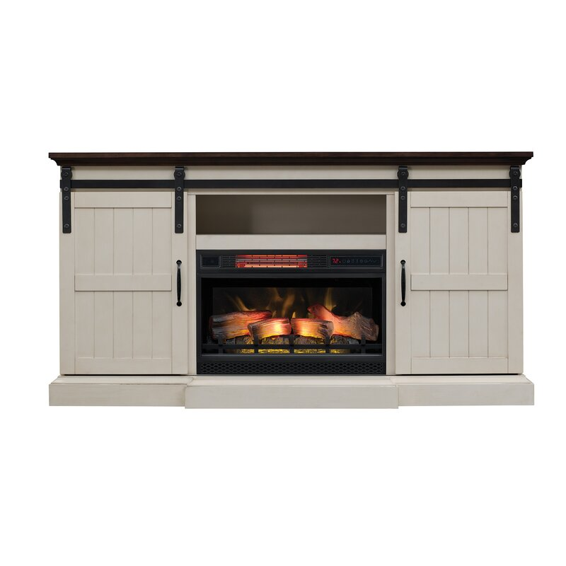 Glendora 66 5 Tv Stand With Electric Fireplace Joss Main