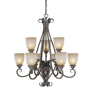 Fleur De Lis Living Brosnan 9-Light Shaded Chandelier