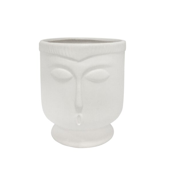 White Indoor Outdoor Ceramic Table Vase Reviews Allmodern