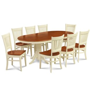 Schacht Traditional 9 Piece Extendable Solid Wood Dining Set Winston Porter