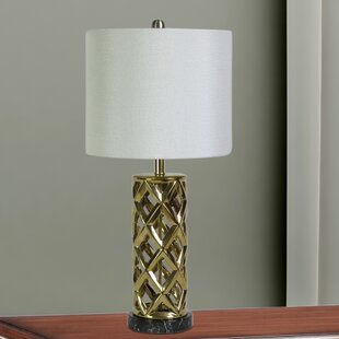 Purchase Langsa Woven Cylinder Cage 26 Table Lamp By House of Hampton