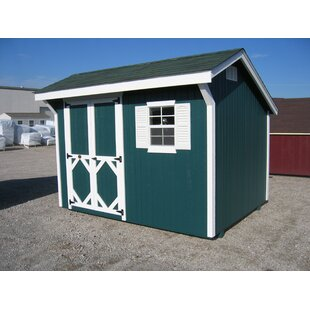 Little Cottage Company Classic Saltbox Solid + Manufactured Wood Storage Shed