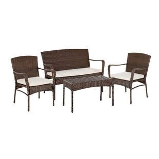 Calila 4 Piece Sofa Set with Cushions