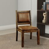 Dalrymple Industrial Solid Wood Dining Chair (Set of 2) by Fleur De Lis Living