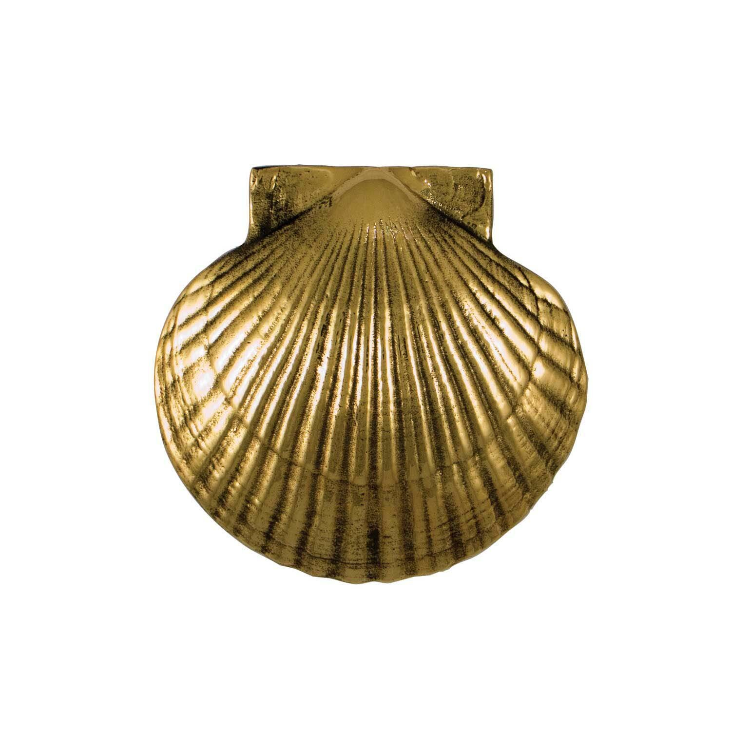 Nickel Solid Brass Shell Door Knocker