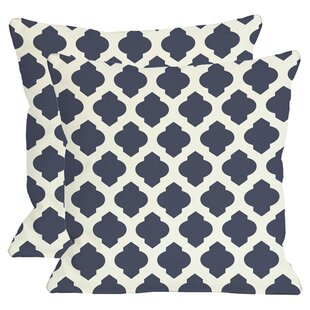 Morrow Throw Pillow In Navy (Set Of 2) by One Bella Casa Best