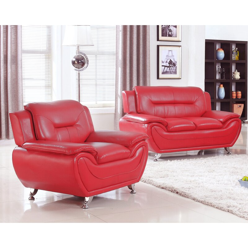 Latitude Run Sather 2 Piece Living Room Set & Reviews | Wayfair