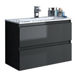 Linebath 82 cm Wandmontierter Waschtisch Essence