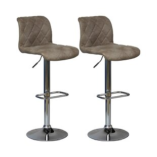 Abbotstown Height Adjustable Swivel Bar Stool (Set Of 2) By Mercury Row