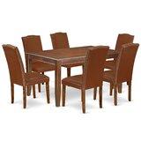 Lorri 7 Piece Solid Wood Dining Set by Alcott Hill®