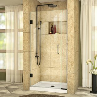 Unidoor Plus 35.5 x 72 Hinged Frameless Shower Door with Clearmax? Technology by DreamLine