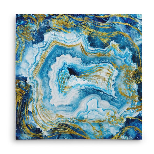 Touch Of Gold Agate Ii Oil Painting Print On Wrapped
