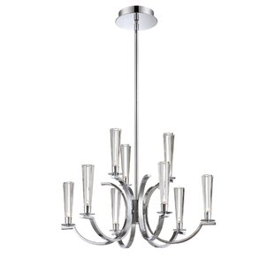 Orren Ellis Rom 9-Light Shaded Chandelier