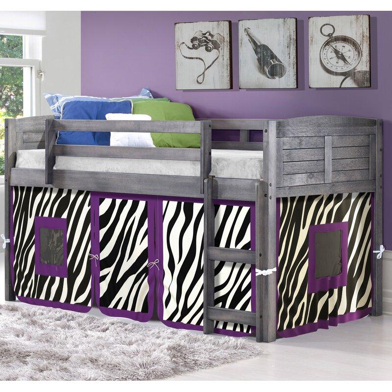Zoomie Kids Isaacs Zebra Twin Low Loft Bed Reviews Wayfair