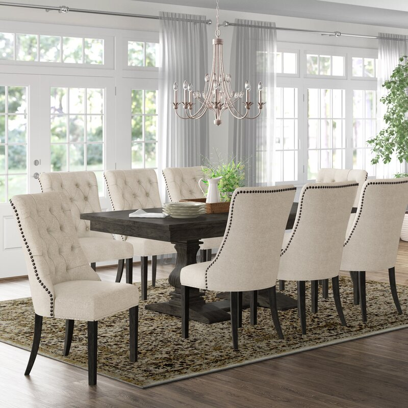 Canora Grey Ruger 9 Piece Extendable Dining Set Reviews Wayfair