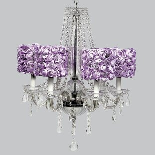 Purple shade chandeliers youll love middleton 6 light crystal chandelier mozeypictures Gallery