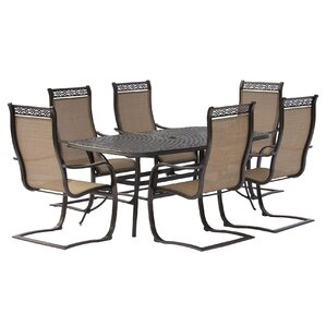 Manor 7 Piece Dining SetMetal Patio Furniture You ll Love   Wayfair. Agio Spring Sling 7 Piece Dining Set. Home Design Ideas
