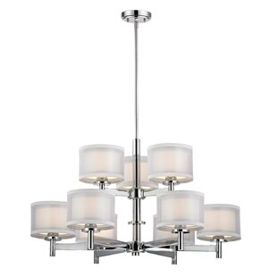 Latitude Run Jarrett 9-Light Shaded Chandelier