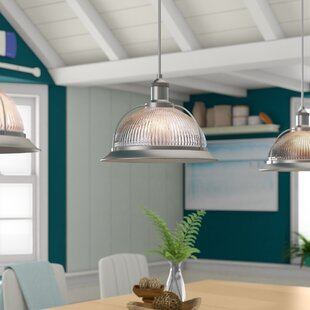 Delway 1-Light Inverted Pendant by Breakwater Bay