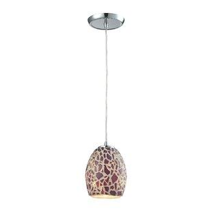 Ebern Designs Minarik Glass Mosaic 1-Ligh..