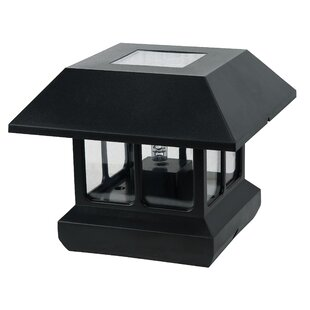 Paradise Garden Lighting Solar 1-Light Fence Post Cap
