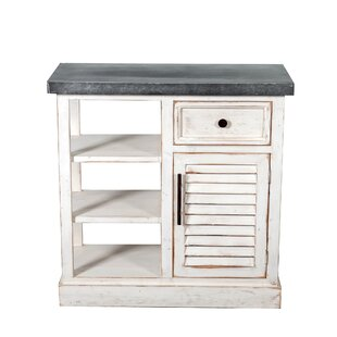 Rigby Shabby Elegance Galvanized Top 1 Drawer Accent Chest