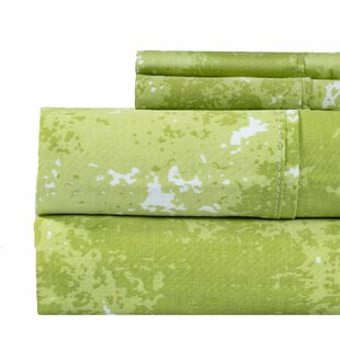 Ivy Bronx Seder Marble Print 400 Thread Count 100% Cotton Sheet Set