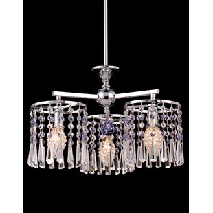 Dowdy 3-Light Crystal Chandelier by House of Hampton