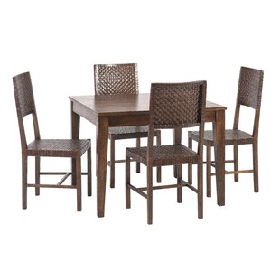 Gambino 5 Piece Wood Dining Set Bloomsbury Market
