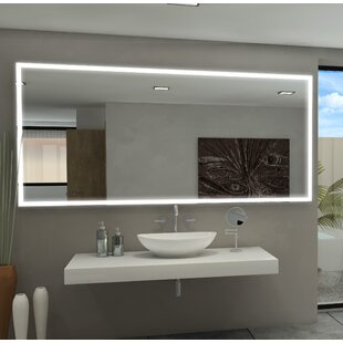Price comparison Kristian Illuminated Bathroom/Vanity Wall Mirror By Orren Ellis