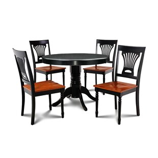 Horgan 5 Piece Solid Wood Dining Set August Grove