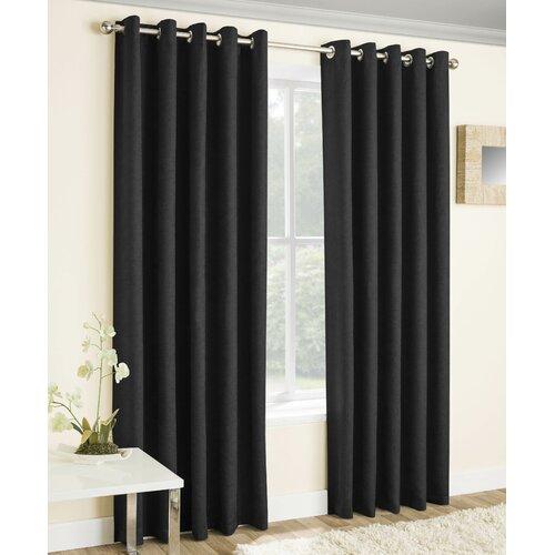 Falkner Eyelet Room Darkening Thermal Curtains Brambly Cotta