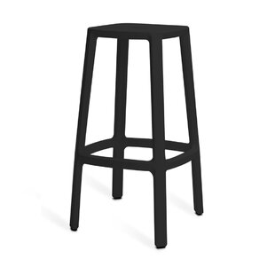 Versailles Barchair - Plastic Barstool - High 75 Cm - Black By 17 Stories