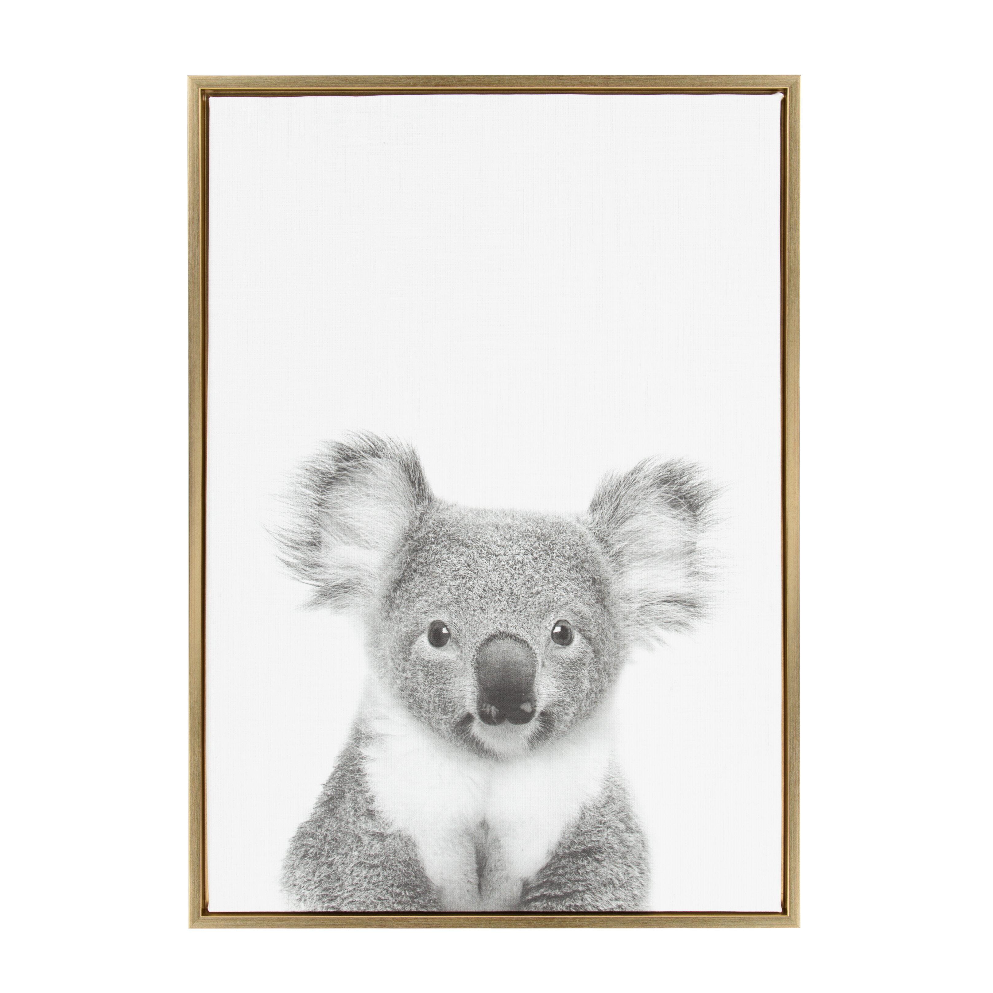 Koala Ii Animal Print Black And White Portrait Framed