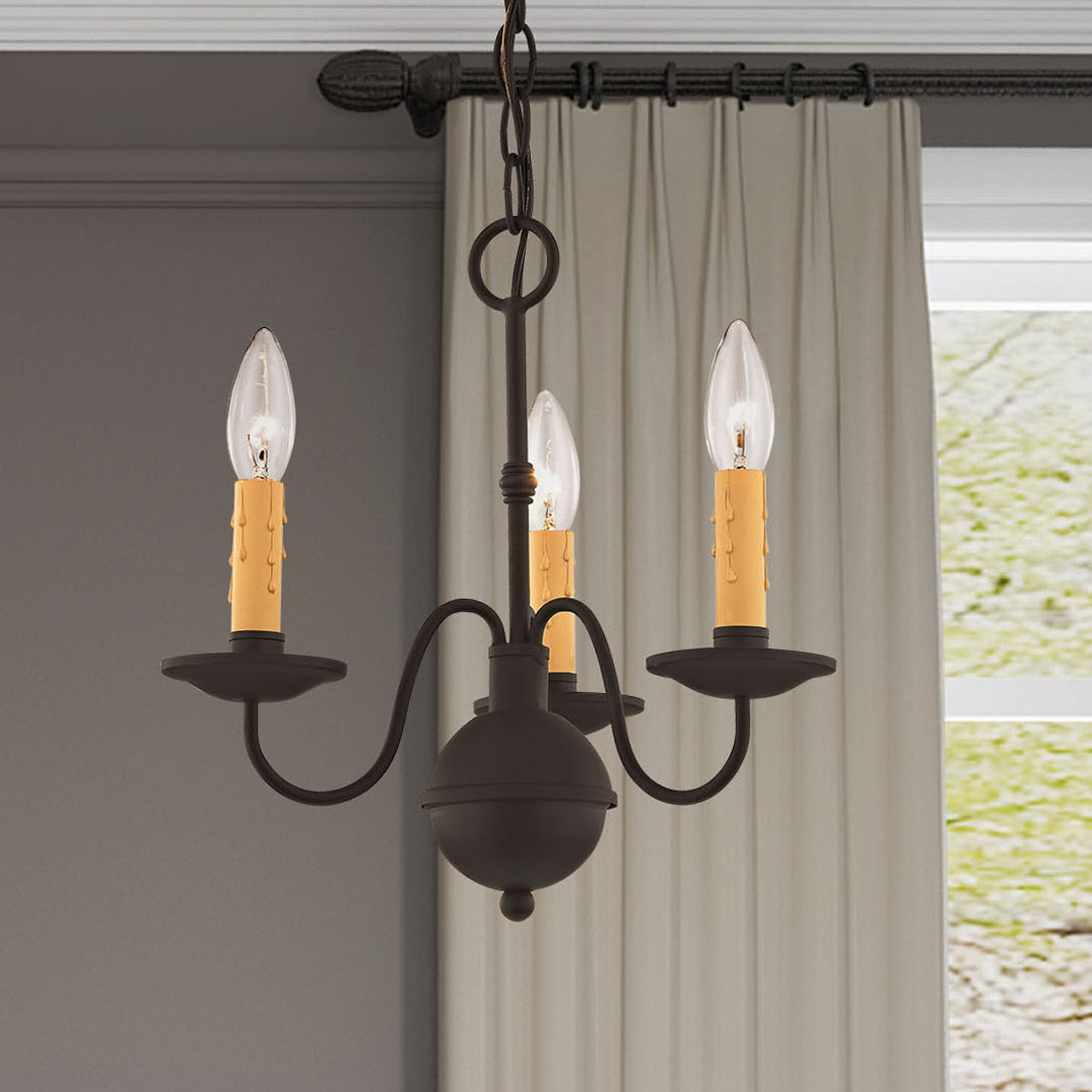 Darby Home Co Eberhart 3 Light Candle Style Classic Traditional Chandelier Reviews Wayfair