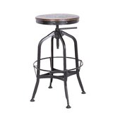 Swartz Swivel Solid Wood Adjustable Height Bar Stool by Williston Forge