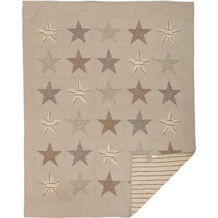 August Grove Pettit Single Reversible Khaki Farmhouse Quilt